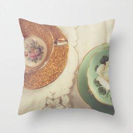 Two Teacups Throw Pillow