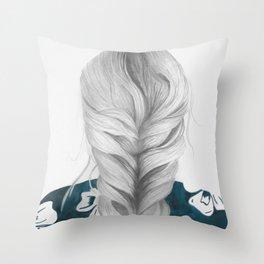 Grey Grey Throw Pillow