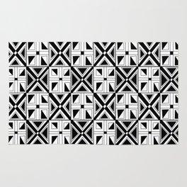 symetric tartan and gingham 23 -vichy, gingham,strip,square,geometric, sober,tartan Rug
