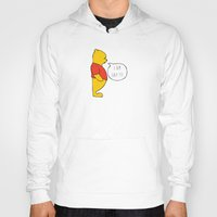 winnie the pooh Hoodies featuring WINNIE THE POOH by DrakenStuff+