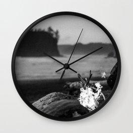 beach fire Wall Clock