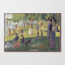 "Study for ""A Sunday on La Grande Jatte"" Canvas Print"
