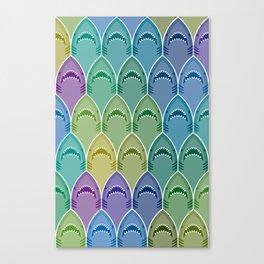 Shark Pattern Canvas Print