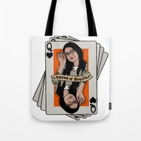 alex vause Tote Bags featuring Vause - The Queen of Hearts by Vague