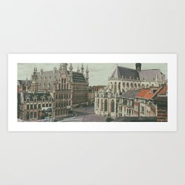 Leuven from the Penthouse Art Print