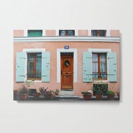 Rue Crémieux House Front Metal Print