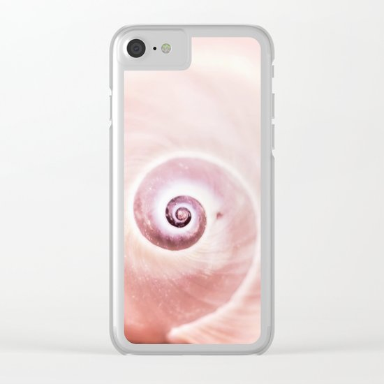 Dream of last summer II - Snail Shell in pink Clear iPhone Case