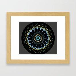 Mandala of the Waves Framed Art Print