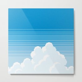 pixel clouds-freeway drive Metal Print