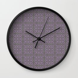 Digital Chip Inspired Quilted Designs Wall Clock