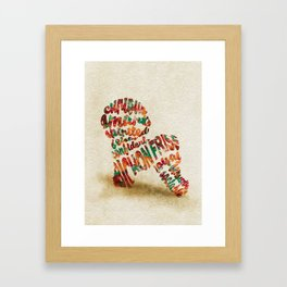 Bichon Frise Typography Art / Watercolor Painting Framed Art Print