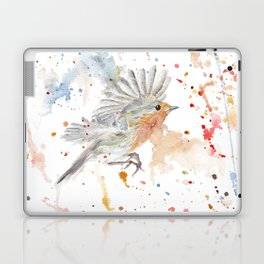 """Watercolor Painting of Picture """"Robins"""" Laptop & iPad Skin"""