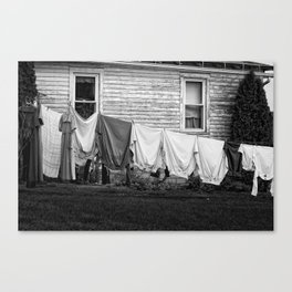 Amish Laundry Canvas Print