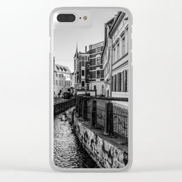 old timbered houses and moat Clear iPhone Case