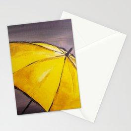 Yellow umbrella 2 Stationery Cards