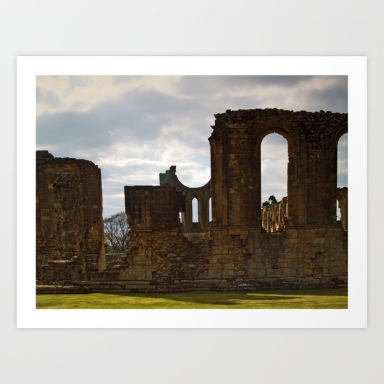 Byland Abbey 4 Art Print