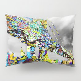 New York City Manhattan Bridge Pure Pop Gold Pillow Sham