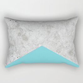 Concrete Arrow Light Blue #206 Rectangular Pillow