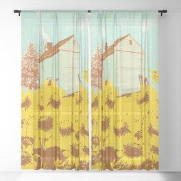 SUNFLOWER CABIN Sheer Curtain