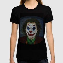 Joker Movie Portrait Joker Comic Book Art Style Joker Portrait of His Face T-shirt