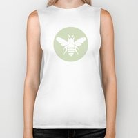 beetle Biker Tanks featuring Beetle by Lídia Vives