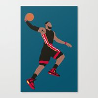 lebron Canvas Prints featuring Lebron by rusto