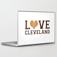 nfl Laptop & iPad Skins featuring LUV Cleveland by C. Wie Design