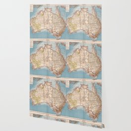 Australian Topography Map (1905) Wallpaper