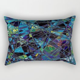 Fragments- Blue Mosaic  Rectangular Pillow