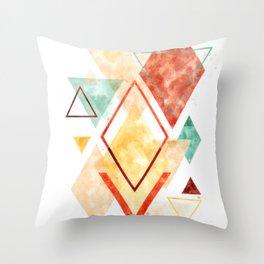 Minimalist Scandinavian Geometric Watercolor Art, Digital Download, Abstract Minimalism, Large Print Throw Pillow