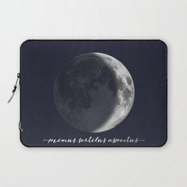 Waxing Crescent Moon on Navy Latin Laptop Sleeve