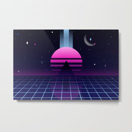 Neon Twilight Metal Print