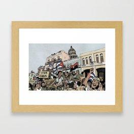 Cuban revolution Framed Art Print