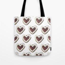 Valentine Heart Cookie Pattern Tote Bag