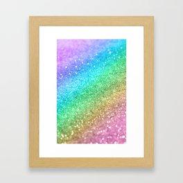 Rainbow Princess Glitter #1 (Photography) #shiny #decor #art #society6 Framed Art Print