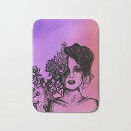 Sunset Succulent Babe | Sunset | Succulents | Cacti | Cactus | Succulent | Portrait | Pink | Orange Bath Mat