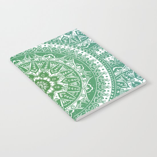 Green Mandala Pattern Notebook