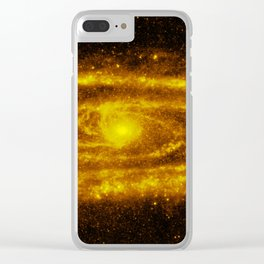 Yellow Galaxy - 2 Clear iPhone Case