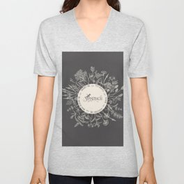 Dear Sassenach in Grey Unisex V-Neck