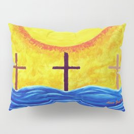 No Matter What Your Race Jesus Saves All By Grace By Annie Zeno Pillow Sham