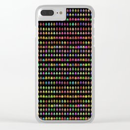 Fashionable Invasion Clear iPhone Case