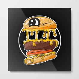 Fast Food FRENZY - Cheezy Tom Metal Print
