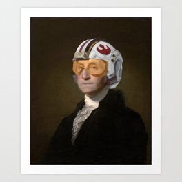 Rebel Allience General Washington Art Print