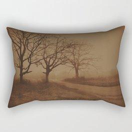 Three Dark Trees Rectangular Pillow