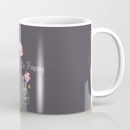 Be Happy Jars Coffee Mug