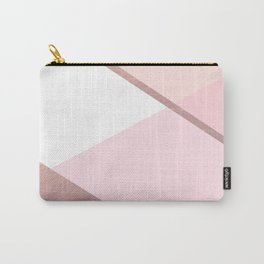 Geometrics - pink peach rose gold Carry-All Pouch