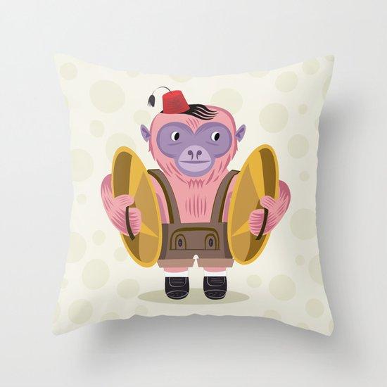 The Monkey Boy Throw Pillow