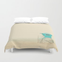 the sound of the outer ocean on the beach ... Duvet Cover
