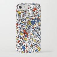 mondrian iPhone & iPod Cases featuring Paris Mondrian by Mondrian Maps