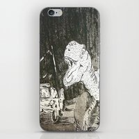 jurassic park iPhone & iPod Skins featuring Jurassic by Erika Marie Burke